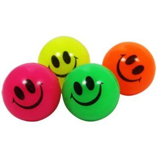 100 x Flummi Smiley Face Gesicht Ball Hüpfball 27mm