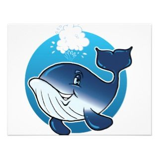 Happy Whale Personalized Announcements
