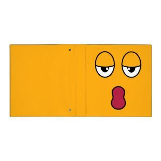 Cute sleepy and yawning cartoon face on an orange background color