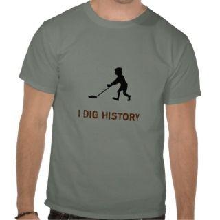 Metal Detector Dig History Silhouette T shirt