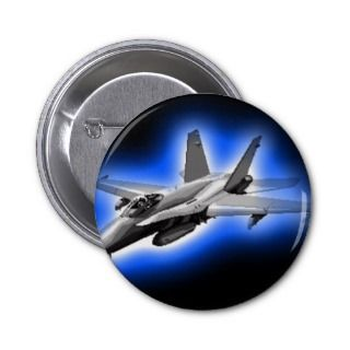 18 Hornet Fighter Jet Light Blue Pin