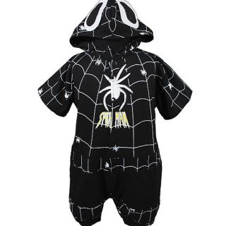 KD274 New Infant Baby Boys Spiderman Romper Black Size 0 24months