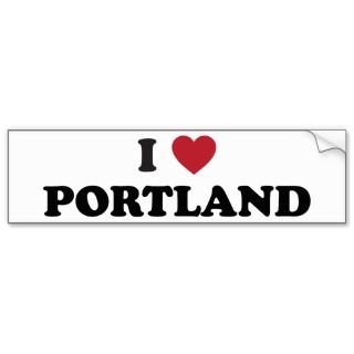 Love Portland Oregon Bumper Sticker