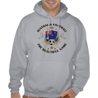 Australia Football Soccer Futbol Hooded Pullovers