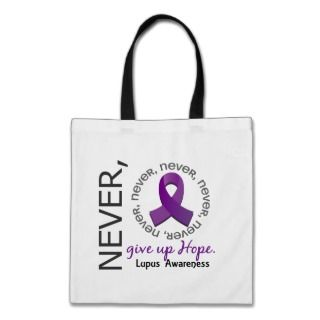 Never Give Up Hope Lupus Canvas Bag