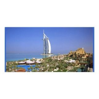 Burj Al Arab Hotel Dubai Custom Photo Card