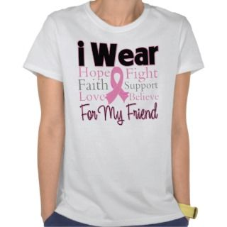 Wear Pink Collage Friend   Breast Cancer Tee Shirts
