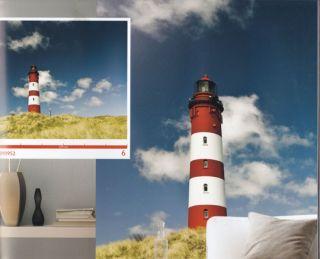 Vlies Foto Tapete Digital Leuchtturm H 260 x B 279 cm