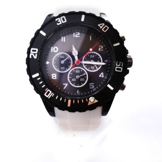 New Versicolor Rubber Silicone Unisex jelly Wrist Quartz Watch with
