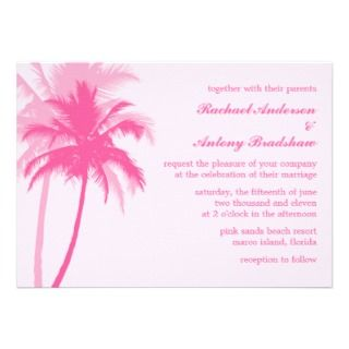 Palm Trees Tropical Wedding Invite