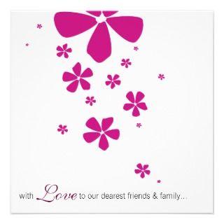 Pink & White Flowers Classic Wedding Invitation