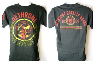 Dethrone Royalty Anyway Anywhere Anyhow Black T shirt New