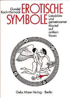 Erotische Symbole. Lotosblüte und gemeinsamer Mantel auf antiken
