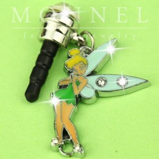 ip271 Luxury Tinkerbell Fairy Anti Dust Plug Cover Charm For iPhone 4