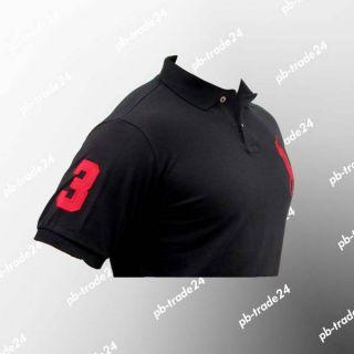 Ralph Lauren Herren Polo Shirt Big Pony schwarz T Shirt