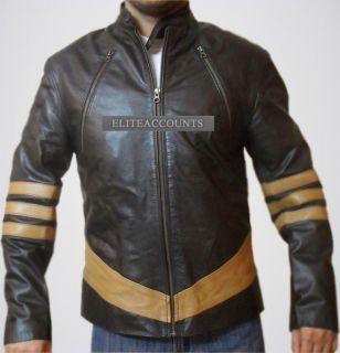 Men © Wolverine Logan Hugh Jackman Lederjacke Leder Jacke Motorrad