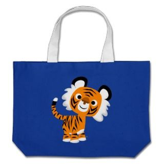 Cute Inquisitive Cartoon Tiger Bag