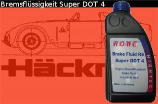 Bremsflüssigkeit Brake Fluid RS Super DOT 4 ROWE VW TL 766 MB 331.0