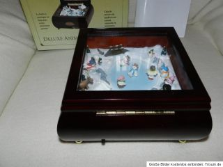 Mr.Christmas,Gold Label Deluxe,Snowmen JamboreeEchtholz Music Box