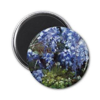 Impressionist FlowersWisteria Oil Painting Fridge Magnet