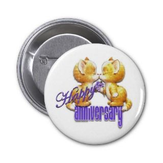 7774 Happy Anniversary cute cartoon kittens cats Pin