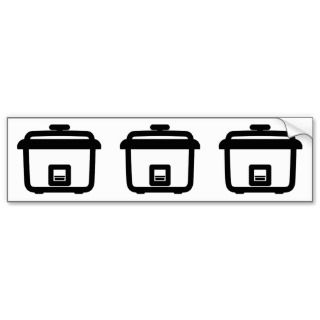 Rice Cooker ~ Japan Style Kitchen Appliance Bumper Stickers