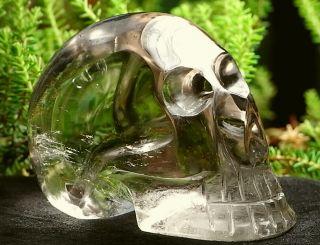 Superschöner großer Glasklarer Rauchquarz Schädel Skull Totenkopf