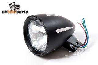 Scheinwerfer schwarz Mod. DAYTONA TÜV/ECE 4 1/2 für Harley Davidson