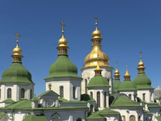 St. Sophia Cathedral Complex, UNESCO World Heritage Site, Kiev, Ukraine, ope Photographic Print by Graham Lawrence