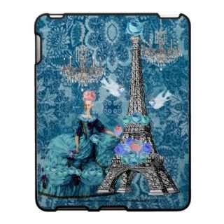 Bella Blue Marie Antoinette and the Eiffel Tower iPad Case