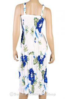 Bohemian Damen Sommerkleid kleid Rock Strand Kleid BoHo XS S M sm065s