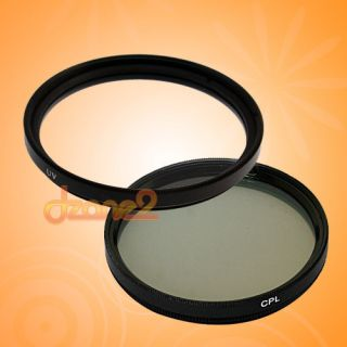 New 62mm UV + CPL Filter Set Circular Polarizing #R297