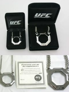 UFC Octagon Stainless Steel Pendant Mens or Womens New