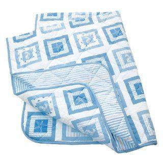 Tchibo Wende Tagesdecke 210 x 280 cm Weiß Blau Sand