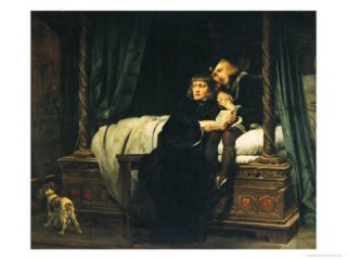 Edward V (1470 83) and Richard, Duke of York in the Tower (Les Enfants DEdouard) 1830 Giclee Print by Hippolyte Delaroche