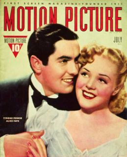 Alice Faye   Motion Picture Magazine Cover 1930s Masterprint