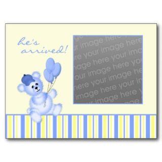 Baby Boy Birth Announcement Post Card