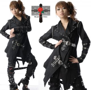 Japan SAMURAI Gothic Rock Vampire Mid Night Jacket Top