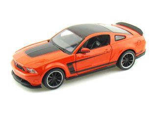 2012 Ford Mustang Boss 302 Orange Diecast Model Car 1 24 Scale Maisto