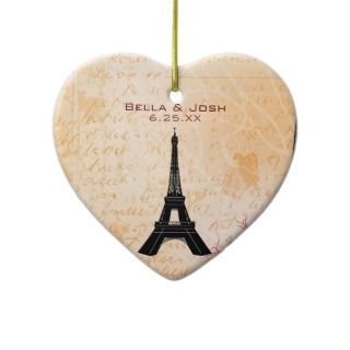 Eiffel Tower Wedding Ornament