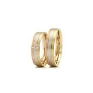 Eheringe Trauringe Gold 585 Weißgold Gelbgold Rotgold mit Brillanten