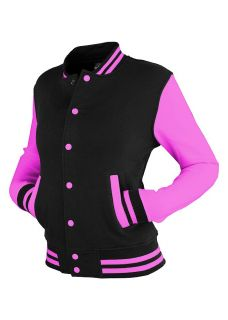 Urban Classics Ladies 2 Tone College Sweatjacke Damen Collegejacke