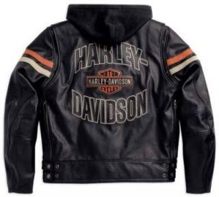 Harley Davidson Leder Jacke Mens Enthusiast 3 in 1