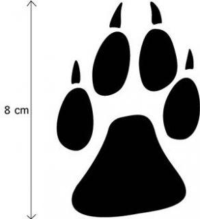 Wolf Pfoten Window / Wall / Car AUFKLEBER Paw Sticker