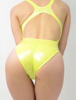 JAPAN NEW REALISE Japanese Shiny Rubber Swimsuit Yellow   305