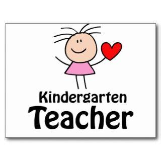 Heart Kindergarten Teacher Post Card