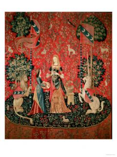 The Lady and the Unicorn Smell, circa 1500 Giclee Print