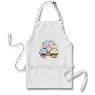 cute cupcakes and stars apron