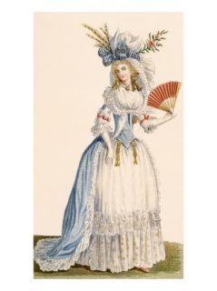 Ladies Turkish Style Evening Dress, from Galeries Des Modes Et Costumes Francais, C.1778 87 Giclee Print by Claude Louis Desrais