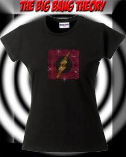 Strass T Shirt The Big Bang Theory Strass Logo Flash